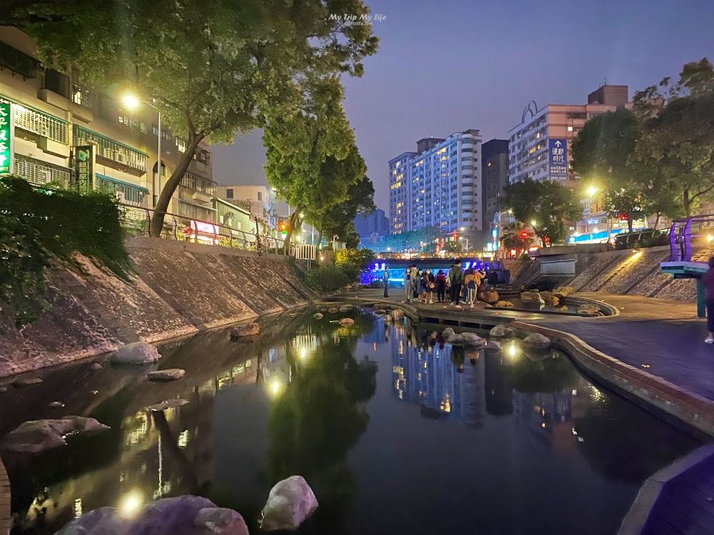 新北旅遊|新莊「中港大排親水步道」必拍夜景、積木橋、彩繪藝術 @MY TRIP ‧ MY LIFE