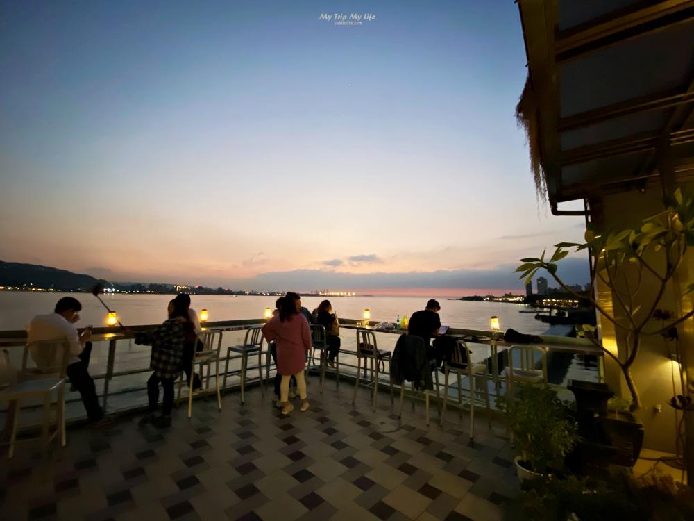 《美食紀錄》淡水老街「淡水長堤咖啡餐館」看美景 @MY TRIP ‧ MY LIFE